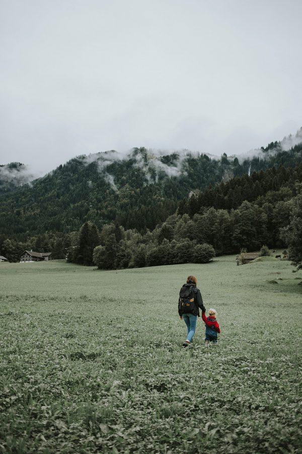Familienreportage - Mutter mit Tochter und Hund - Border Collie
