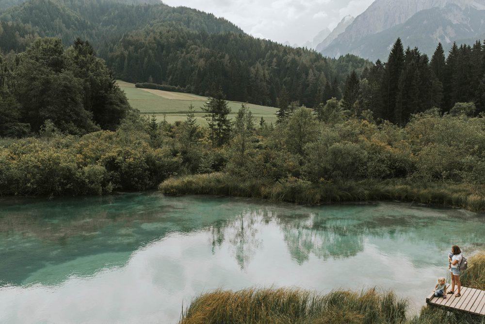 Slowenien, Kranjska Gora, Naturreservat Zelenci, See