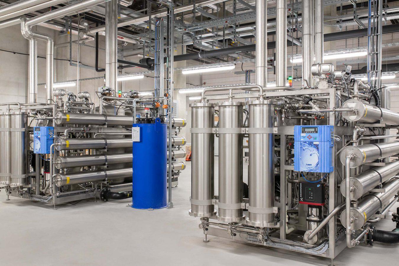 BWT Best Water Technology, Reinstmediensysteme für Pharma und Biotech, Reinstwasser, Anlage